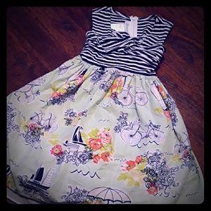 Bonnie Jean Boutique Style Girls Dress 6 EUC